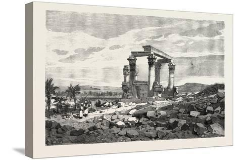 Temple of Kardusseh in Nubia. Egypt, 1879--Stretched Canvas Print