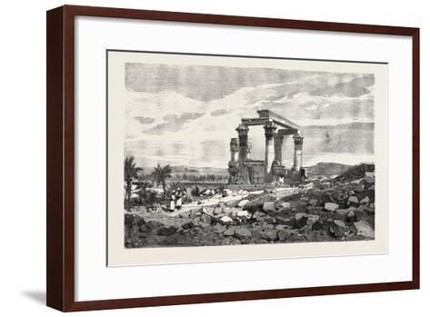 Temple of Kardusseh in Nubia. Egypt, 1879--Framed Art Print
