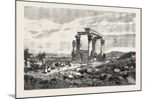 Temple of Kardusseh in Nubia. Egypt, 1879--Mounted Giclee Print