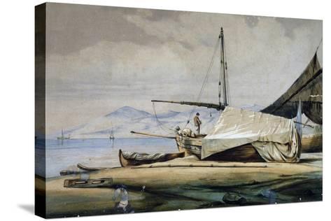Leudi, Ligurian Fishing Boat--Stretched Canvas Print