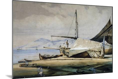Leudi, Ligurian Fishing Boat--Mounted Giclee Print