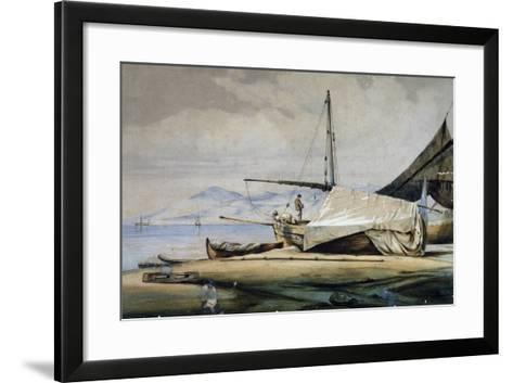 Leudi, Ligurian Fishing Boat--Framed Art Print