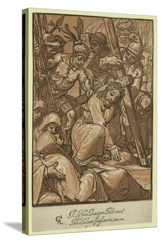 Christ Carrying the Cross, Andreani, Andrea, Approximately 1560-1623--Stretched Canvas Print