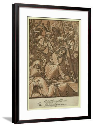 Christ Carrying the Cross, Andreani, Andrea, Approximately 1560-1623--Framed Art Print