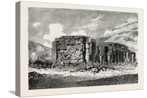 Ruins of the Ramesseum, Egypt, 1879--Stretched Canvas Print