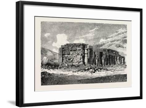 Ruins of the Ramesseum, Egypt, 1879--Framed Art Print