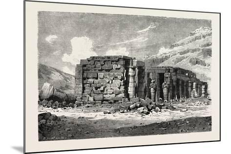 Ruins of the Ramesseum, Egypt, 1879--Mounted Giclee Print