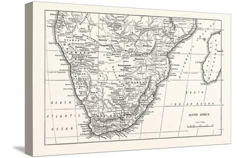 Map of South Africa--Stretched Canvas Print