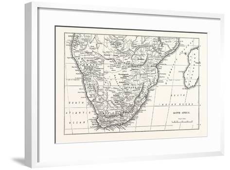 Map of South Africa--Framed Art Print
