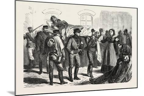 Franco-Prussian War: Wounded Soldiers the Station of Sarrebruck, 1870--Mounted Giclee Print