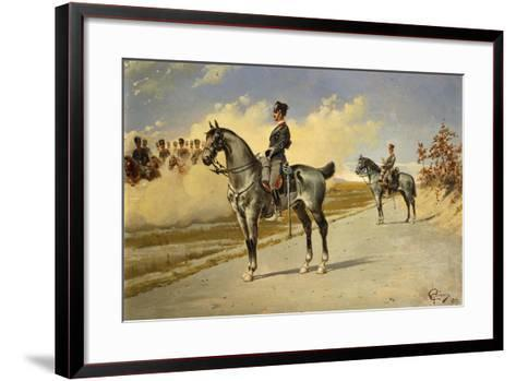 Cavalry Officer by E. Ghione, 1899--Framed Art Print