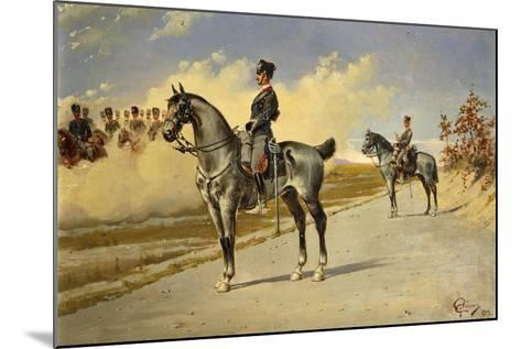 Cavalry Officer by E. Ghione, 1899--Mounted Giclee Print
