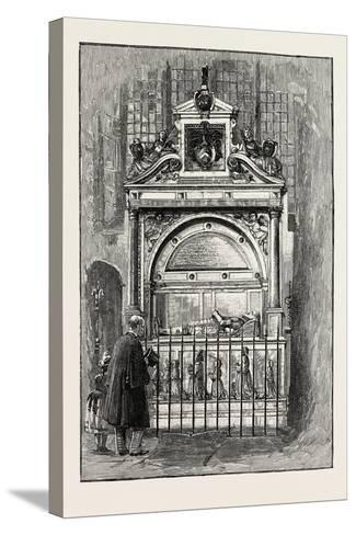 Tomb of Sir Richard Smythe, 1565 - 1628, of Leeds Castle Kent, U.K.--Stretched Canvas Print