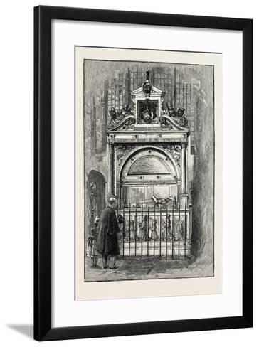 Tomb of Sir Richard Smythe, 1565 - 1628, of Leeds Castle Kent, U.K.--Framed Art Print