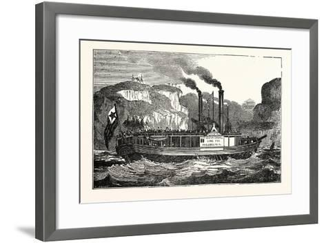 The American Steam Vessel, the Carroll of Carrolton, USA, America--Framed Art Print