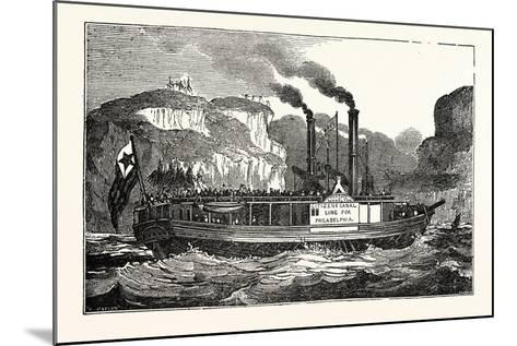 The American Steam Vessel, the Carroll of Carrolton, USA, America--Mounted Giclee Print