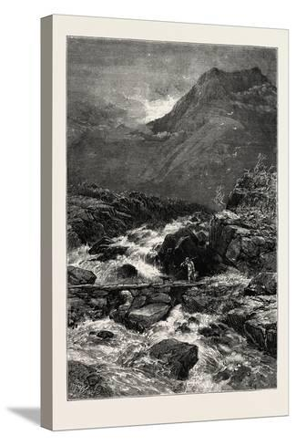 The Stream from Llyn Idwal, North Wales, UK, 19th Century--Stretched Canvas Print