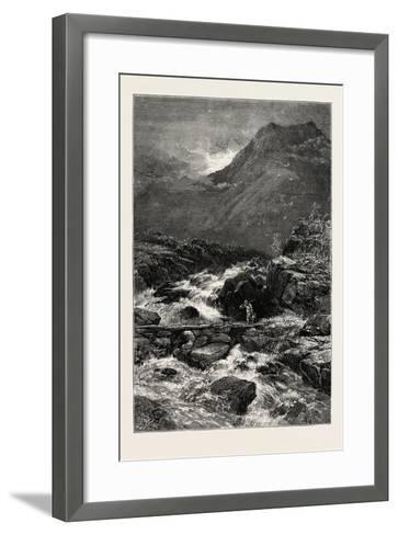 The Stream from Llyn Idwal, North Wales, UK, 19th Century--Framed Art Print