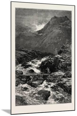 The Stream from Llyn Idwal, North Wales, UK, 19th Century--Mounted Giclee Print