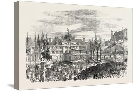 Inauguration of the Statue of Joan of Arc at Orleans, France--Stretched Canvas Print