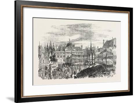 Inauguration of the Statue of Joan of Arc at Orleans, France--Framed Art Print