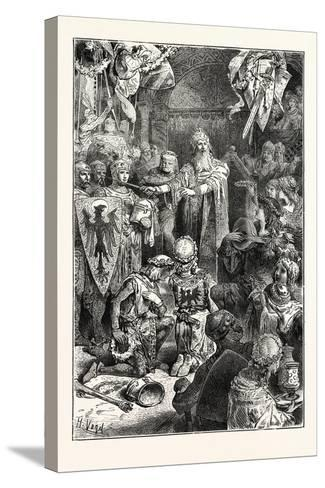 The Great Emperor Frederick Barbarossa Holds His Court at Mayence--Stretched Canvas Print