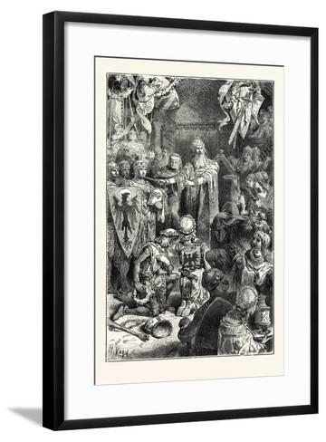 The Great Emperor Frederick Barbarossa Holds His Court at Mayence--Framed Art Print