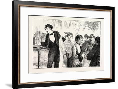 The Garyon and His Phrase Book, the Paris Exhibition, France--Framed Art Print