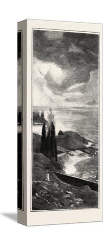 Coast Scenery Between Mentone and Bordighera, France, 1882--Stretched Canvas Print