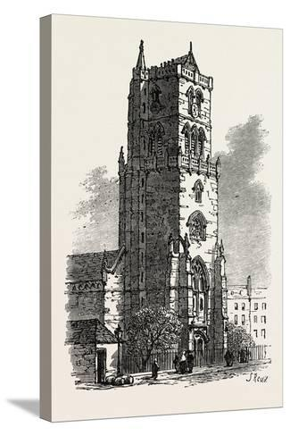 The British Association at Dundee: Old Steeple, Uk, 1867--Stretched Canvas Print