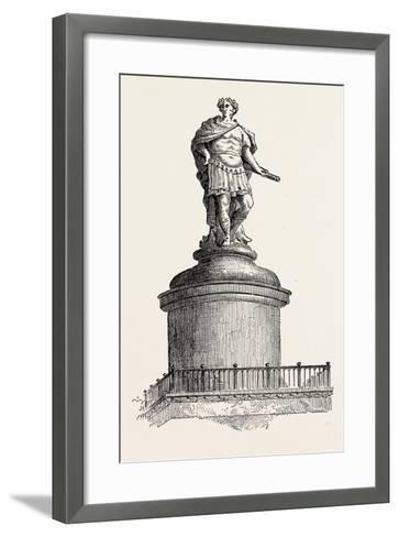 Wren's Original Design for the Summit of the Monument London--Framed Art Print