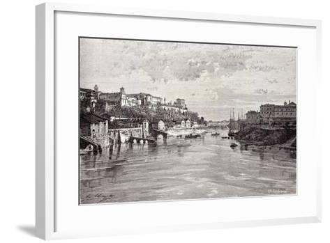 Rome Italy 1875 Aventine Mount and St. Sabina Seen from Ponte Rotto--Framed Art Print