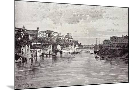 Rome Italy 1875 Aventine Mount and St. Sabina Seen from Ponte Rotto--Mounted Giclee Print