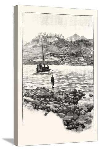Boat in the Rapids. Western China 2000 Miles from Shanghai--Stretched Canvas Print