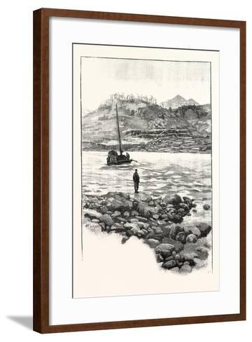 Boat in the Rapids. Western China 2000 Miles from Shanghai--Framed Art Print