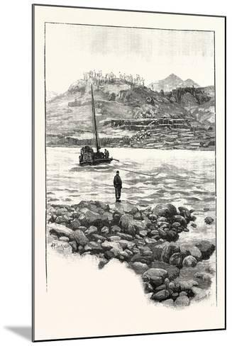 Boat in the Rapids. Western China 2000 Miles from Shanghai--Mounted Giclee Print