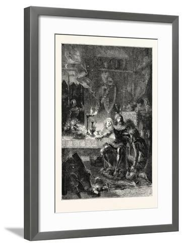 Edward the Black Prince Serves His Prisoner John of France--Framed Art Print
