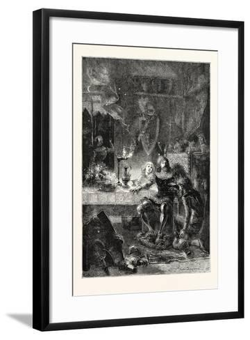 Edward the Black Prince Serves His Prisoner John of France--Framed Art Print