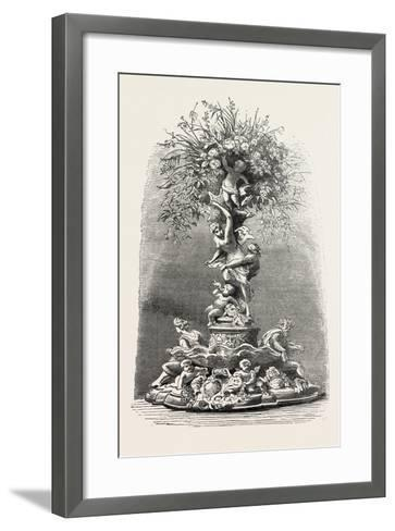 Fruit and Flower Stand in Silver, Table Decoration, 1882--Framed Art Print