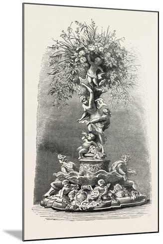Fruit and Flower Stand in Silver, Table Decoration, 1882--Mounted Giclee Print