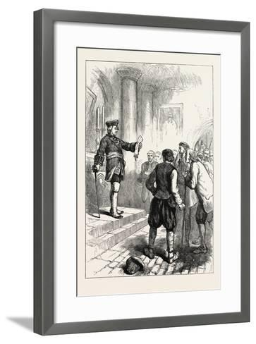 Winslow Reading the Royal Proclamation, USA, 1870s--Framed Art Print