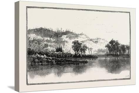 North Shore of the Ottawa, Canada, Nineteenth Century--Stretched Canvas Print
