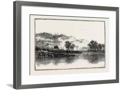 North Shore of the Ottawa, Canada, Nineteenth Century--Framed Art Print