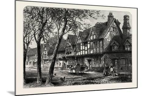 Houses, Under, the Castle, Warwick, UK, 19th Century--Mounted Giclee Print
