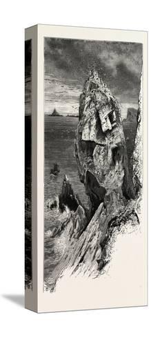 Mullion Gull Rock, the South Coast, UK, 19th Century--Stretched Canvas Print