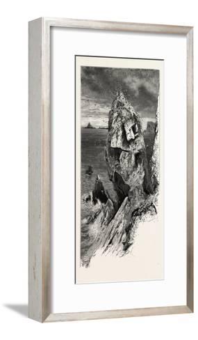 Mullion Gull Rock, the South Coast, UK, 19th Century--Framed Art Print