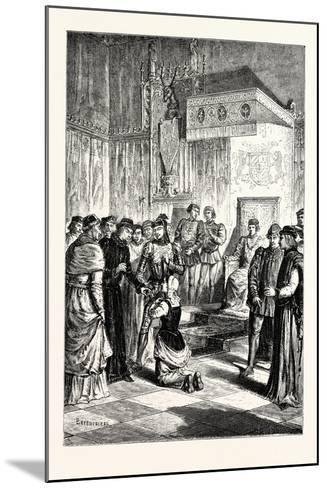 Joan of Arc Recognises Charles Vii. Among His Courtiers--Mounted Giclee Print