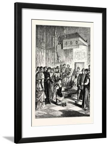 Joan of Arc Recognises Charles Vii. Among His Courtiers--Framed Art Print