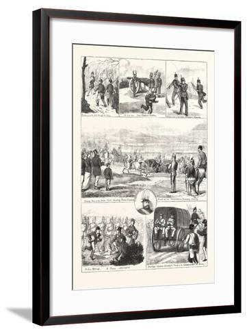 Easter Monday with the Volunteers at Tring, 1876, UK--Framed Art Print