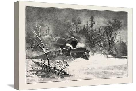 Triumph of the Snow-Plough, Canada, Nineteenth Century--Stretched Canvas Print